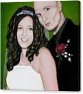 Wedding Portrait Of Clint And Ashley Canvas Print