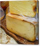 Wedges Of Ripe Cheese Wrapped Canvas Print