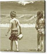 Wee Beachcombers Canvas Print