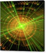 Weed Art Green And Golden Light Beams Canvas Print