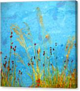 Weeds And Water Canvas Print