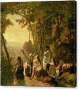 Weeping Of The Daughter Of Jephthah Canvas Print