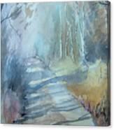 Weg Zum Entenweiher Canvas Print