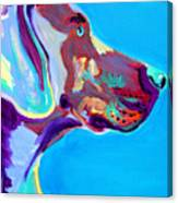 Weimaraner - Blue Canvas Print