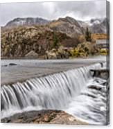 Weirs Rapids Snowdonia Canvas Print