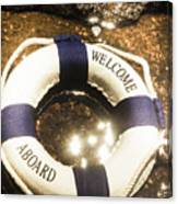 Welcome Aboard Nautical Paradise Canvas Print