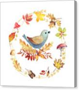Welcome Back Autumn Canvas Print