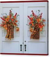 Welcome Doors Canvas Print