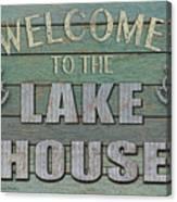 Welcome Lake House Canvas Print