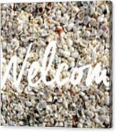 Welcome Seashell Background Canvas Print