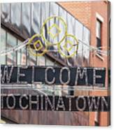 Welcome To Chinatown Sign In Manhattan Canvas Print