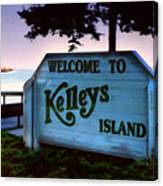 Welcome To Kelleys Island Canvas Print