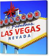 Welcome To Las Vegas Sign Only Boulder Highway Day Canvas Print