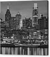 Welcome To Penn's Landing Bw Canvas Print