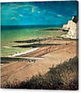 Welcome To Saltdean An Imaginary Postcard Canvas Print