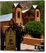 Welcome To Santuario De Chimayo Canvas Print