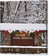 Welcome To Signal Mountain Canvas Print