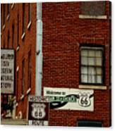 Welcome To The Main Street Of America Canvas Print