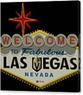 Welcome To Vegas Knights Sign Digital Drawing Canvas Print