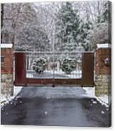 Welcome To Winter Canvas Print