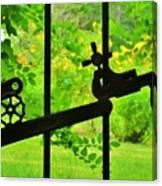 Welded Garden Gate Canvas Print