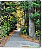 Wellesley College Walkway Canvas Print