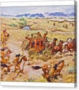 Wells Fargo Express Old Western Canvas Print