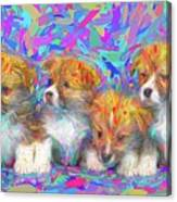 Welsh Corgi Pups Canvas Print