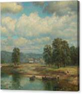 Weltz Ivan 1866-1926 By The River Canvas Print