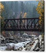 Wenatchee Bridge Digital Painting Canvas Print