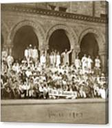We're Up Against It,students On Steeps Of Encina Hall At Stanford University April 18,1907 Canvas Print