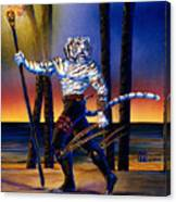 Werecat With Torch Canvas Print