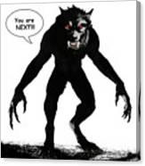 Werewolf Comic Illustration 1 Canvas Print