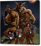Werewolf Transformation Canvas Print