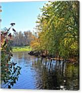 West Branch Iowa River Canvas Print
