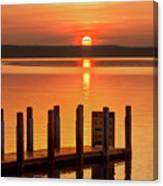 West Dnr Boat Launch July Sunrise Canvas Print