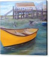 West End Skiff Canvas Print