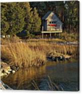 West Falmouth Boathouse Canvas Print