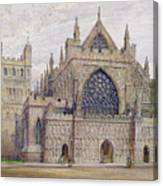 West Front, Exeter Cathedral Canvas Print