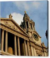 West Front Of St.paul's Cathedral, London Canvas Print