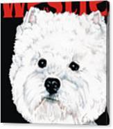West Highland White Terrier Westie Urban Pop Canvas Print