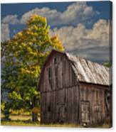 West Michigan Barn In Autumn Canvas Print