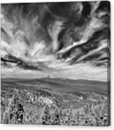 West Of Crater Lake B W Canvas Print