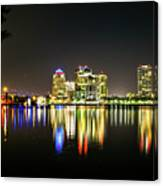 West Palm Beach Downtown Panoramic Canvas Print