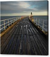 West Pier, Whitby, England Canvas Print
