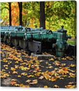 West Point Fall Leaves Canvas Print