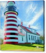 West Quaddy Head Lighthouse Canvas Print