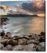 West Shore Sunset Canvas Print