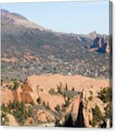 West Springs And Distant Garden Of The Gods Canvas Print