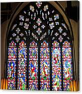 West Stained Glass Window Christ Church Cathedral 1 Canvas Print